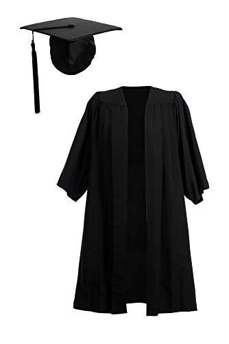 Abito e tocco per laurea a pieghe ed elasticizzato Black XXL