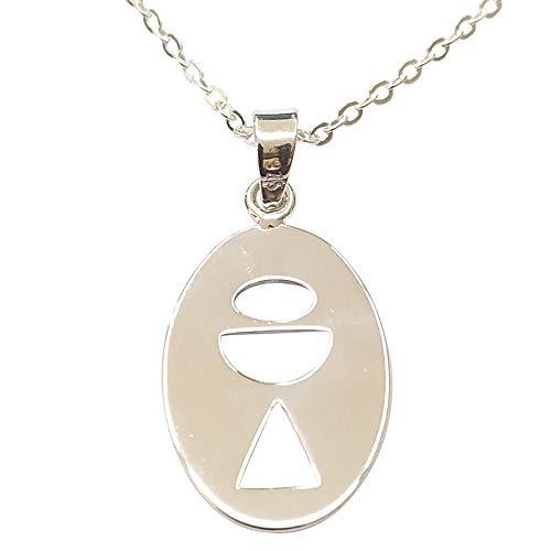 Sicuore Collar Colgante Comunion Medalla Caliz para Niño Niña - Plata de Ley 925 Incluye Cadena 45cm Y Estuche para Regalo