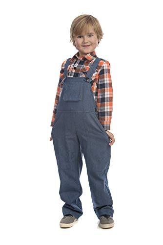 Dress Up America- Niños Traje Farmer-Tamaño del niño de 2 años (1-2) Disfraz de Granjero, Multicolor, Talla (Cintura: 61-66, Altura: 84-91cm) (840-T2)