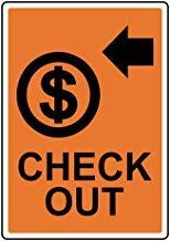 Segnale di avvertimento con scritta in lingua inglese'Check Out' e'Private Property', cartello di avvertimento di sicurezza per esterni, cartello decorativo per la casa, 20,3 x 30,5 cm