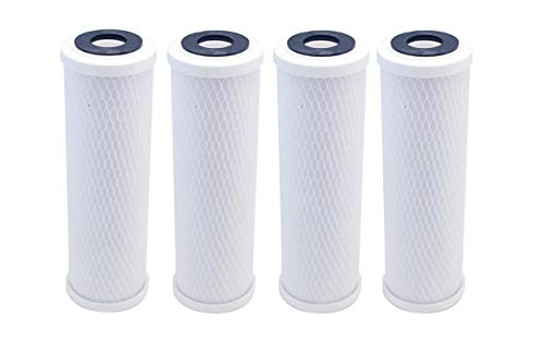 4-Pack Compatible for WaterPur CCI-10-CLW Activated Carbon Block Filter - Universal 10 inch Filter for WaterPur Clear Water Filter Housing by IPW Industries Inc.