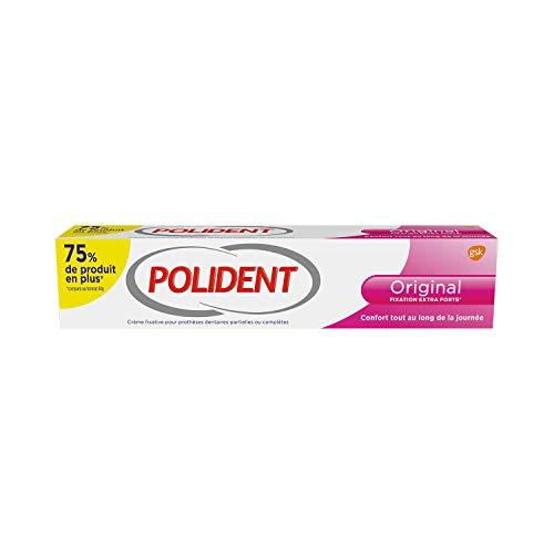 Polident Original, crema fijadora extra fuerte, para prótesis dentales parciales o completas, 70 g