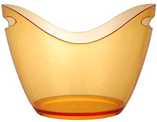 KTV Ice Bucket, útil cubo de hielo con pinzas para hielo Cubo de hielo transparente de 3 l, botellas de champán o cubo de hielo para vino para Ws, entretenimiento de vacaciones, suministros de verano