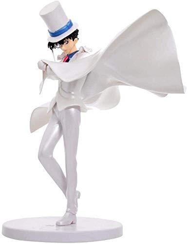 Estatua del animado de Conan del detective hecho a mano culpa ladrón Kidd muñeca en caja de anime muñeca, hecha a mano Modelo del regalo de cumpleaños de escritorio Decoración PVC Material de juguete