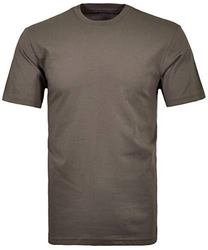 Ragman Herren T-Shirt 2er Pack Rundhals, DUNKELGRAU, L