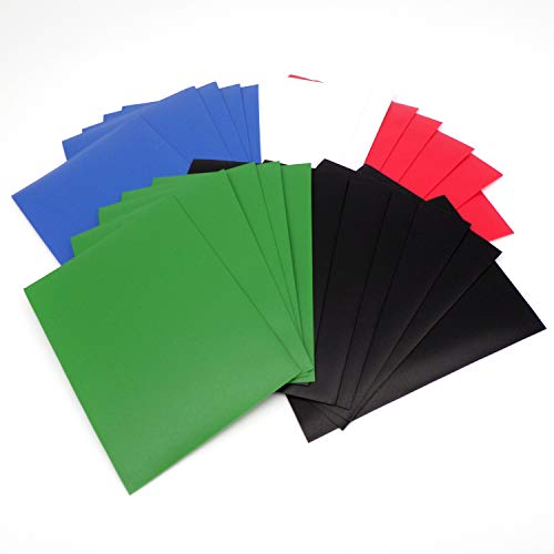 docsmagic.de 5 x 100 Mat Card Sleeves Standard Size 66 x 91 - Black Blue Green Red White - Kartenhüllen - PKM - MTG