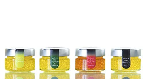 Pack Caviar 4 Unidades 50 Gr - Trufa Blanca, Guindilla, Albahaca y...