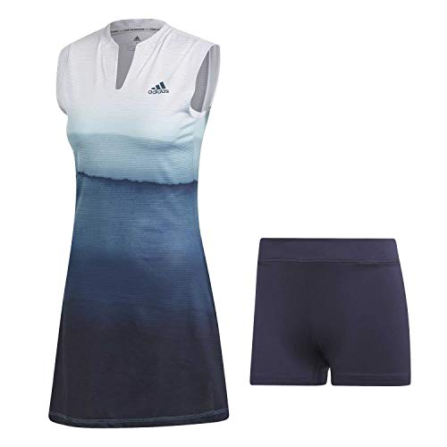 adidas Damen Parley Kleid, White/Easy Blue, XS