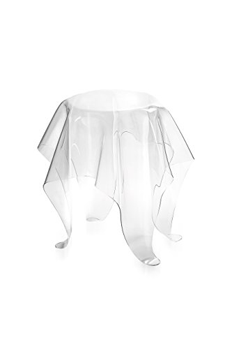 Iplex Design Drappeggi d'Autore Tavolino in Plexiglass Trasparente