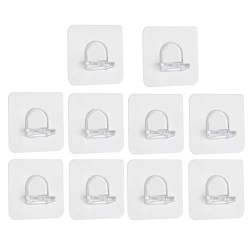 gilivableskr 10 PCS Selbstklebender Kleiderschrank Trennwandhalter, Punch-free Magic Hooks Wardrobe Partition Holder, Regal-bodenträger Regalträger Stützen Halterung 7 X 7 Cm high quality