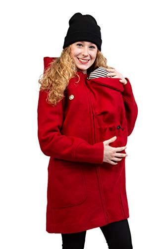 Viva la Mama - Jacke für Babytragen - Umstandsjacke warm - Mantel für Schwangere - Valentin Plus - rot- XS