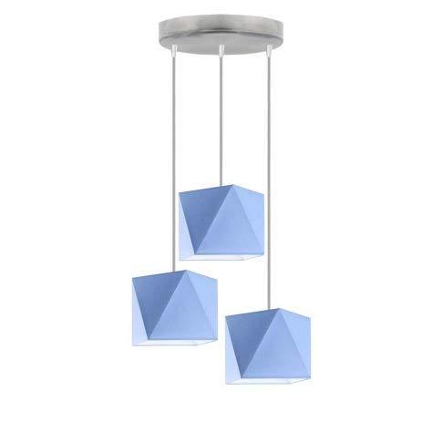 Lámpara de techo MAJORKA pantalla de lámpara Azul Marco Plata