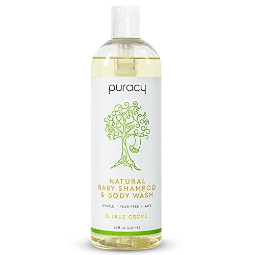 Puracy Natural Shampoo & Body Wash, Plant - Derived Baby Shampoo & Baby Wash, Gentle Soap for Sensitive Skin, Tear - Free, 16 Fl Oz