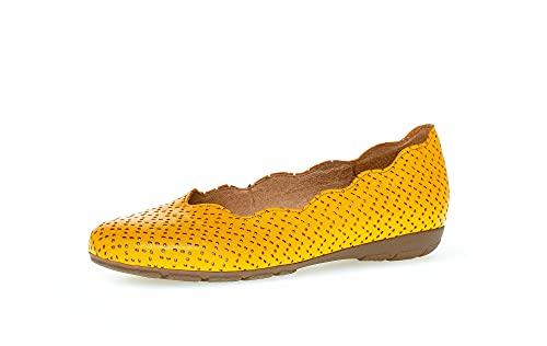 Gabor Bailarinas deportivas para mujer, suela de cámara de aire Hovercraft, color Amarillo, talla 37.5 EU