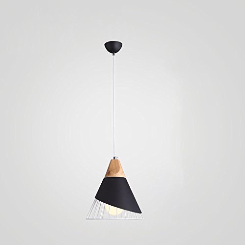 Pendelleuchte Kreative Leuchter Aluminium Restaurant Cafe E27 Deckenleuchte Wohnzimmer Schlafzimmer Einzigen Kopf Dekoration Kronleuchter (Farbe   Schwarz)