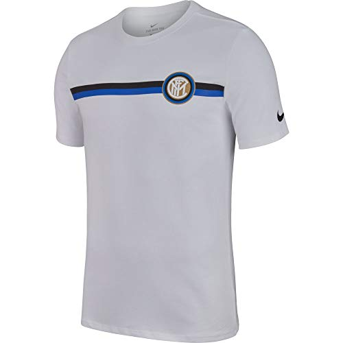 NIKE Inter M NK tee Crest - Camiseta, Hombre, Blanco(White)