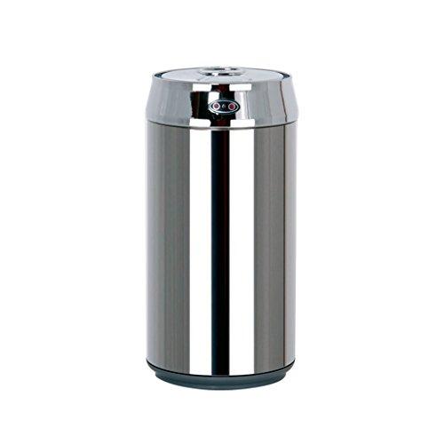 Yuanyuanliu Induktion Mülleimer Cola kann Edelstahl Smart Home Mode kreative Küche Wohnzimmer Desktop Mini Eimer Silber 12,4 x 25 cm