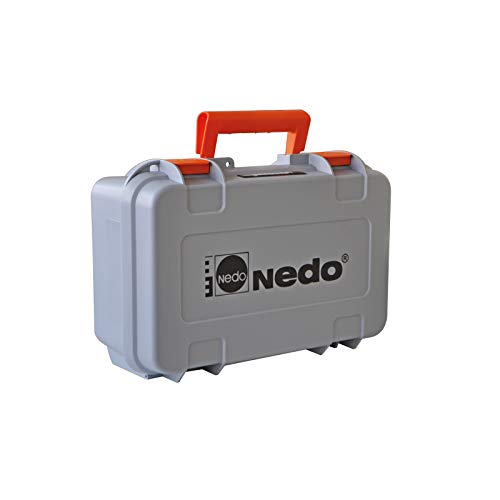 Nedo SIRIUS 1 HV horizontal und vertikal selbstnivellierender Rotationslaser mit Nedo Kurbelstativ und Flexilatten-Set - Baulaser Nivellierlaser mit ACCEPTOR 2 Digital u. Klammer, Laserklasse 2 - 7