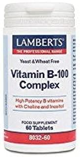 Lamberts Complejo de Vitamina B-100, 60 tabletas
