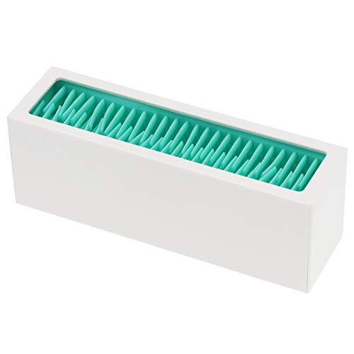 Brocha de Maquillaje Poseedor Silicona Brocha de Maquillaje Caja de Almacenaje Organizador CosméTico Tendedero de Cepillo Herramienta de Belleza Organizador Portaescobillas(Lago azul + blanco)