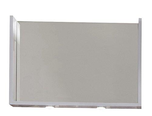 trendteam smart living Meubles d'entrée Miroir murale Imola Blanc Ultrabrillant laqué, LxHxP 81x55x12 cm, Autre