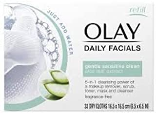 OLAY Daily Facials Water Activated Dry Cloths 5 in 1 Cleansing Power