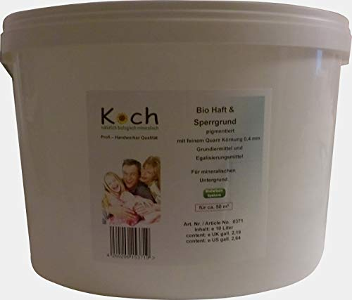 Koch Ecoprimer Silikat Haft & Sperrgrundierung Weiß Grundierung Haftgrund Altbeschichtung (10 Liter)