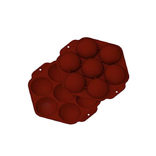 Molde para tartas semiesfera hexagonal de 7 cavidades, elegante molde de silicona para hornear hemisferio antiadherente, molde de chocolate en forma de panal para hacer chocolate, tarta, gelatina