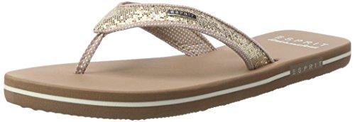 ESPRIT Damen Glitter Thongs Zehentrenner , Beige (295 Cream Beige), 38 EU