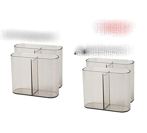 Caja de almacenamiento de plástico para maquillaje y baño, organizador de cosméticos, escritorio para maquillaje, joyas, caja de almacenamiento de mesa, organizador de contenedores, 2 unidades