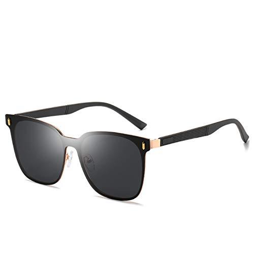 WWDKF Gafas De Sol Hombre, Gafas De Sol De Conducción con Montura Grande Polarizadas TAC, Bloquean Eficazmente El Deslumbramiento, Visión Clara, Protección UV, Color Natural,D