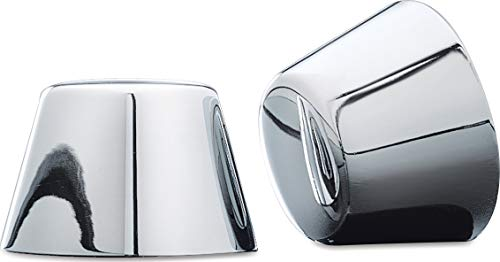 Kuryakyn 1201 Motorcycle Accent Accessory: Front End Axle Nut Caps for 1980-2007 Harley-Davidson Motorcycles, Chrome, 1 Pair