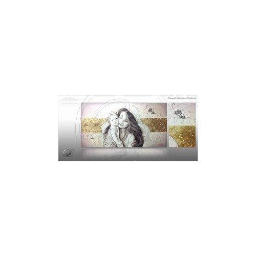 """'Marco capezzale moderno con Virgen y niño, Simon Roux """"Madonna and Child, grande y pequeño tamaño sobre lienzo algodón y madera, marco moderno Artesanal Para Camera de cama"""