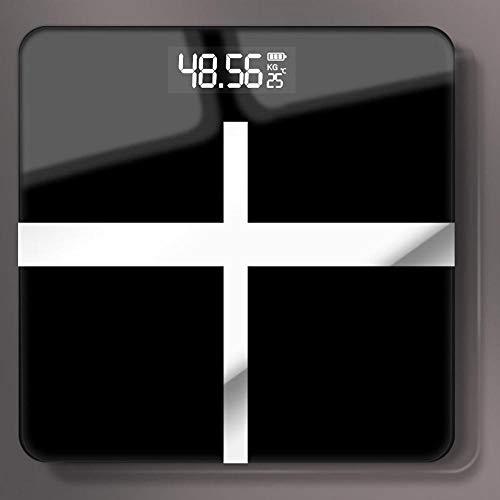 Báscula de cocina digital Balanzas electrónicas inteligentes de vidrio para piso de baño, carga USB, pantalla LCD, pesaje corporal, báscula de peso digital para el hogar E