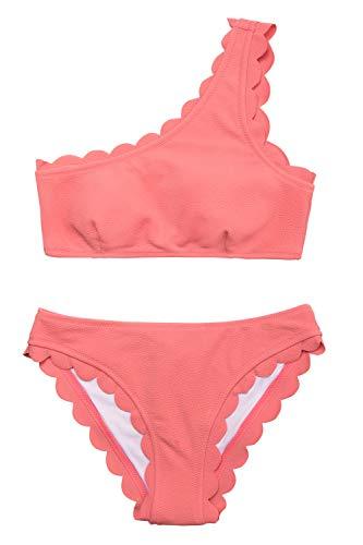CUPSHE Regen von Blütenblätter Solid Bikini Anzug, Orange, L