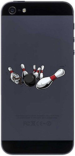 Handyaufkleber Handyskin Sport 075 - Pin und Bowling-Kugel - 50 x 24 mm Aufkleber