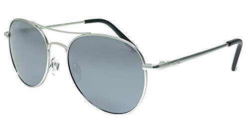 INVU Unisex Polarisierte Sonnenbrille Trend T1700 Silber (T1700C), Linse Spiegel