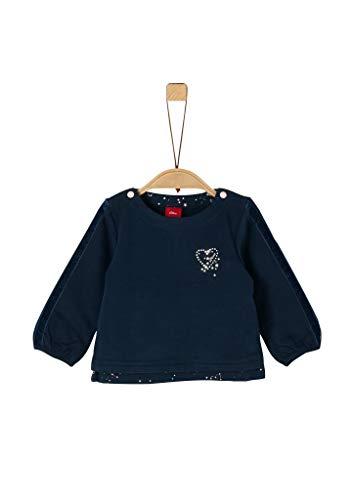 s.Oliver Baby-Mädchen 65.911.41.2260 Sweatshirt, Blau (Dark Blue 5952), (Herstellergröße: 86)
