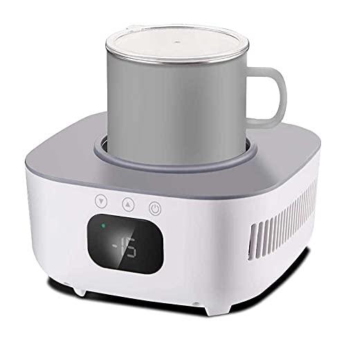Adesign Mini montaña calurosa de enfriamiento rápido, taza de refrigeración del fabricante de hielo de la oficina del dormitorio para el hogar para el agua, la leche, la cerveza, el cacao Heating Plat