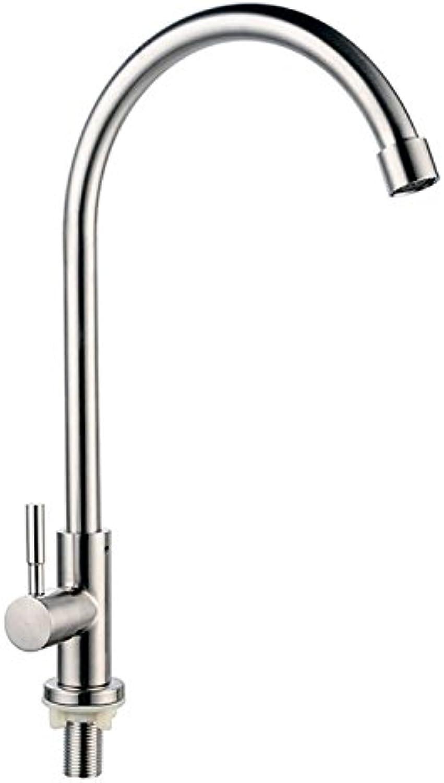 SHLONG Edelstahl Küchenarmatur einzigen Waschbecken Wasserhahn drehbare Wanne Wasserhahn