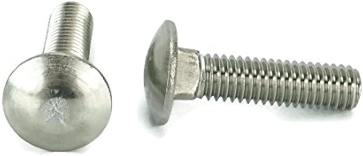 Stainless 3 8-16 x 1-1 2  Carriage Bolt (1  to 5  Lengths Available in Listing), 18-8 Stainless Steel,25 Pieces (3 8-16x1-1 2 (25pcs))
