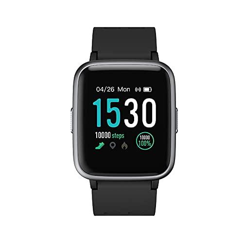 Smartwatch, Fitness Braccialet Full Touch Screen, Fitness Braccialet con le orecchie a impulso, Smart Watch con il contatore di gradini, monitor del sonno, chiamata e l'interno di messaggio.-black