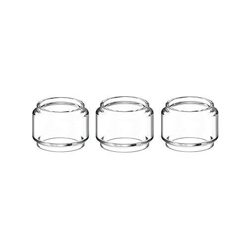 NO LOGO, 4 / 3pcs Birne Pyrex Glasrohr for UD Bellus RTA Vaporesoo Ziel Pro Vaporizer Atomizer (Frei von Tabak und Nikotin) (Farbe : 3pcs Bulb Glass)