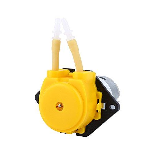 Yosoo Pompe péristaltique Pompe Tête amovible 12V pour l'eau Aquarium Lab (Jaune)