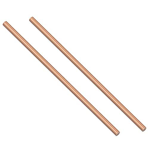 WLALLSS 100 mm de Largo y 12 mm de diámetro, 2 Piezas de Herramientas de Metal de Varilla Redonda de Cobre, Buen Material para Hacer Manualidades