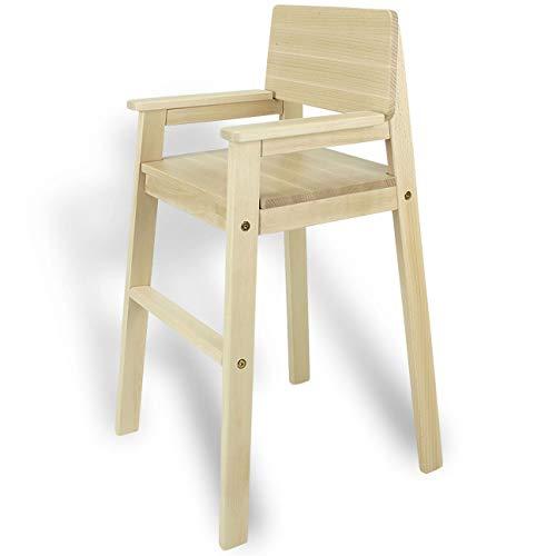 Madyes kinderstoel hoge stoel massief hout beuken natuur. Modern design. Trapstoel voor eettafel, kinderhoge stoel voor kinderen, stabiel en onderhoudsvriendelijk, vele kleuren mogelijk.