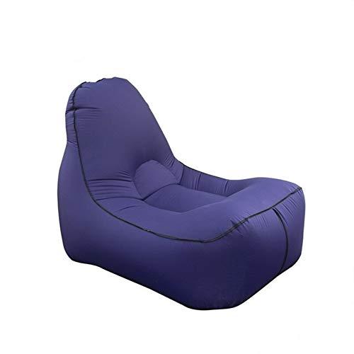 gujiu Aufblasbare Bohnenbeutel-Recliner, Luft-Sofa-Hängematte, tragbarer Stapelstuhl, schnelles aufblasbares Bett, fauler Liegestuhl für Hinterhof/Pool/Strand/Camping (Color : C)