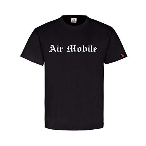 Air Mobile Germany Bundeswehr Infanterie Objektschutz Schortens T-Shirt #32141, Farbe:Schwarz, Größe:Herren 3XL