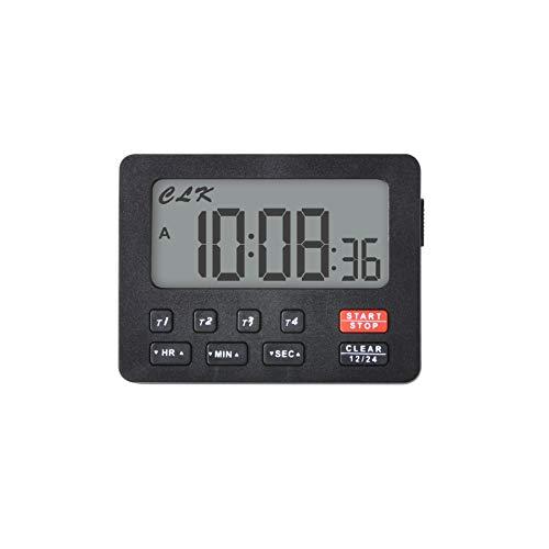 Jayron JR-HM206 Temporizador de cuenta regresiva digital de escritorio,conteo,batería reemplazable,para bodas,ejercicio,aula,trabajo,cocina