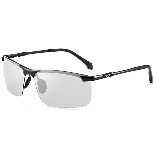 Brillen,Sonnenbrillen,Zubehör,NEW Brand Photochromic Sunglasses Men Polarized Chameleon Discoloration Sun Glasses For Men Fashion Rimless Square Sunglasses Black frame
